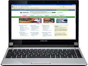 Замена матрицы на ноутбуке Asus Ul20